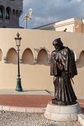 MONTE CARLO, MONACO - NOVEMBER 2, 2014:  Francois Grimaldi  statue disguised  - stock photo