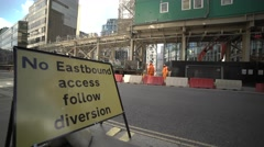 London Business Center constructing - stock footage