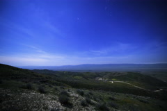 6K MoCo Astro Time Lapse of Starry Sky & Carrizo Plain Overlook  Stock Footage