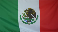 Mexico Flag real fabric Close up 4K Stock Footage