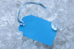 Label On Ice With Copy Space Stock Photos