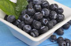 Blueberry antioxidant organic superfood in a bowl Stock Photos