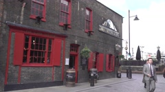 London, old pub tourist view - stock footage