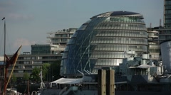 City Hall of London on a very sunny day: establishing shot Stock Footage