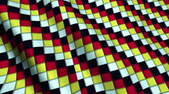 Colorful Squares Fabric Cloth Material Texture Seamless Looped Background Stock Footage