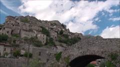 Medieval Castle of Prata Sannita, Caserta, Italy, time lapse Stock Footage