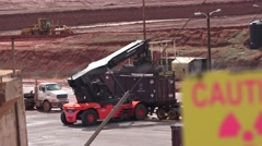 Restricted area, Moab, Utah Super Fund Clean up Stock Footage