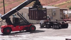 Shipping radio active material, Moab, Utah Super Fund Clean up Stock Footage