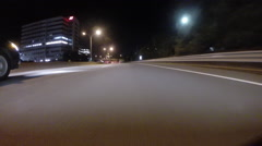 GoPro attached to bumper of car at night - 37 Stock Footage