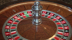 ROULETTE WHEEL CASINO Stock Footage