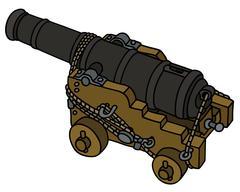 Historic naval cannon Stock Illustration