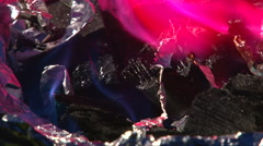 Pour Flammable Liquid On Coals - stock footage