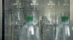 A line for bottling mineral water into bottles Stock Footage