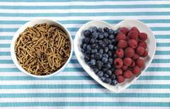 High fiber healthy breakfast - stock photo