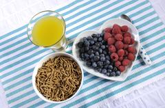 High fiber healthy breakfast Stock Photos