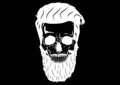 Illustration Vector Graphic Skull Pirate Hipster Stock Illustration