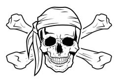 Illustration Vector Graphic Skull Pirate Stock Illustration