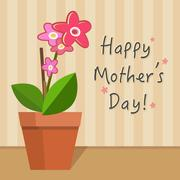 Mothers Day Card vector illustration Stock Illustration