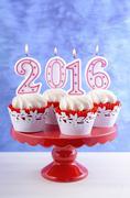 Happy New Year 2016 Cupcakes Kuvituskuvat