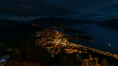 Timelapse - Beautiful Sunrise from the top view Queenstown - stock footage