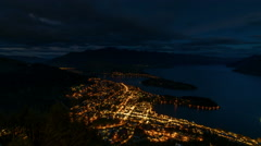 Timelapse - Beautiful scenery from the top view Queenstown - stock footage