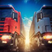 3D rendering of truck transport Piirros
