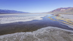 3axis MoCo Time Lapse of Bad Water Salt Flat in Death Valley National Park -Long Stock Footage
