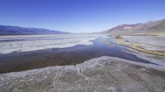 3axis MoCo Time Lapse of Bad Water Salt Flat in Death Valley National Park Stock Footage
