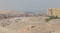 View of buildings in poorer part of Aswan Stock Footage