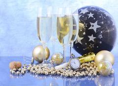 New Year Celebration Party Stock Photos