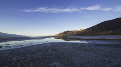 2axis MoCo Time Lapse of Bad Water Salt Flat in Death Valley at Sunset  Stock Footage