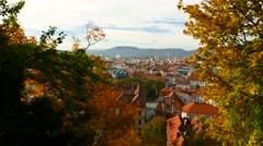 Panorama of Graz Stock Footage