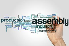 Assembly word cloud - stock photo