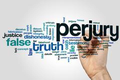 Perjury word cloud - stock photo