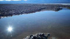 Time Lapse of Reflection over Bad Water in Death Valley -Tilt Up- Stock Footage