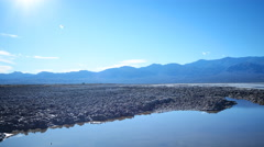 Time Lapse of Reflection over Bad Water in Death Valley -Tilt Down- Stock Footage