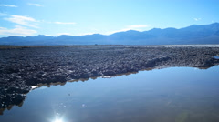 Time Lapse of Reflection over Bad Water in Death Valley -Pan Right- Stock Footage