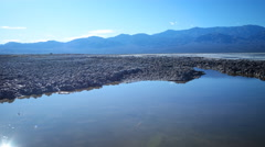 Time Lapse of Reflection over Bad Water in Death Valley -Pan Left- Stock Footage