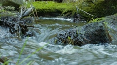 Water Flowing Through Rocks Stock Footage