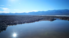 Time Lapse of Reflection over Bad Water in Death Valley -Zoom In- Stock Footage