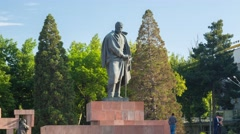 Monument to Sadriddin Ayni in Dushanbe Stock Footage