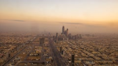 Riyadh King abdullah economic city - Saudi Arabia Timelapse - stock footage