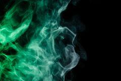Abstract virid smoke hookah. Stock Photos