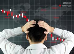 Global stock market declining Stock Photos