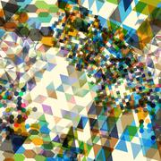 Abstract background with messy polygon shapes Stock Illustration