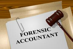 Forensic Accountant legal concept Stock Illustration