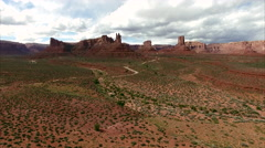Monuments in Bear's Ears Utah Stock Footage