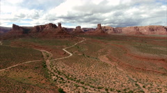 Aerial footage of the desert in Bear's Ears Utah near Valley of the Gods. Stock Footage