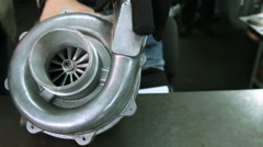 Turbocharger car. Reconditioning and service. Stock Footage
