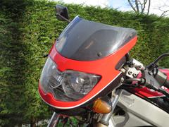 Screen of the Suzuki GS 500 E motorbike - stock photo